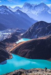 Gokyo Lakes, Sagarmatha National Park, Nepal (Feng Wei Photography) Tags: morning travel nepal light mountain lake snow color tourism beautiful beauty vertical trek landscape dawn scenery colorful asia tour view outdoor scenic tranquility landmark unesco serenity stunning vista remote serene himalaya majestic khumbu everest tranquil himalayas breathtaking rugged gokyo sagarmatha thirdlake solukhumbu gokyori gokyolake dudhpokhari gokyocho {vision}:{outdoor}=099 {vision}:{sunset}=0515 {vision}:{clouds}=0902 {vision}:{mountain}=077 {vision}:{sky}=0959