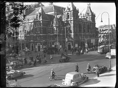 05-00-1948_04627 Stadsschouwburg (IISG) Tags: auto car amsterdam bike bicycle theater traffic theatre reclame tram publicity fiets stadsschouwburg verkeer advertissement benvanmeerendonk tipvanbootz