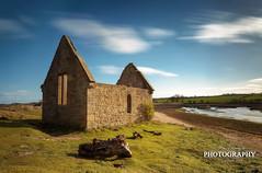 Alnmouths Mortuary Ruins ( Ian Flanagan) Tags: longexposure sunlight church stone river northumberland alnmouth blueskies stcuthberts treestumps riveraln ef1740l leefilters rabbitshit canon5dmk3 bigstopper ianflanagan