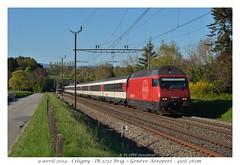Re 460 052-0 (CC72080) Tags: train sbb locomotive cff re460 céligny interrégio