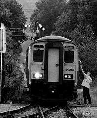 Pantyffynnon 14124bwcrx (kgvuk) Tags: southwales railways signalbox dmu dieselmultipleunit arrivatrainswales signalcabin class1502 centralwalesline pantyffynnon 150280 pantyffynnonsignalbox brynammanbranch