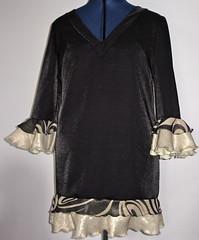 70's tunic (completed) (Ex-Grungy Student) Tags: fashion ruffles disco needlework handmade sewing chiffon sew homemade fabric 70s polyester handsewn fancydress sewn ruffle tunic homesewn 70sdisco
