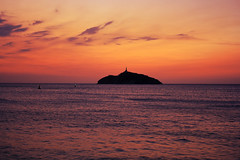 Faro (Campanero Rumbero) Tags: trip travel sunset sun beauty night clouds faro atardecer mar colombia playa nubes turismo santamarta horizonte oceano atlantico brisa bello pwpartlycloudy