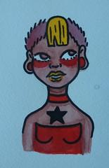 13 for $13 (dollsxbleedxsugar) Tags: art star punk chelsea artist alt afro goth guages plugs stretchedears alternative poc colorart afropunk colorillustration skinbyrd