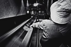((Jt)) Tags: light woman film monochrome subway blog women asia metro flash streetphotography korea seoul ricohgr compactcamera ricohgr21 jtinseoul pushedtmax400
