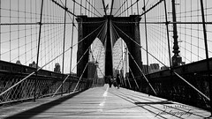 Brooklyn Bridge B+W (Lisa-Mari) Tags: city newyorkcity bridge blackandwhite newyork brooklyn cityscape manhattan bridges grayscale
