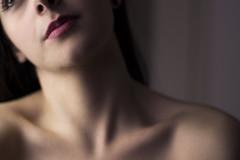 Taste my bones. (The Crane Dance) Tags: red portrait woman girl canon naked 50mm skin lips bones 600d