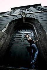 The Gate (Nawid Sahebzadeh) Tags: old city black building metal gun mask badass marieke sincity masker