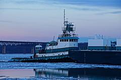 Tugboat Evelyn Cutler (thetrick113) Tags: winter ice river frozen vessel tugboat hudsonriver barge hdr petroleum hudsonvalley beaconnewyork hudsonriverice newburghnewyork workingvessel petroleumbarge sonyslta65v hudsonrivertugboat i84hudsonriverbridge polingcutlermarinetransportation winter2015 evelyncutler tugboatevelyncutler