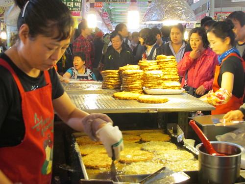 Galettes de pommes de terre, Séoul, Corée du Sud