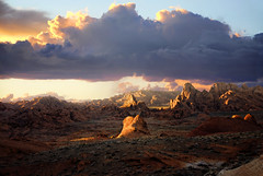 valley of fire (rappensuncle) Tags: sunset red sky sunlight valleyoffire nature weather rock clouds outdoors nationalpark nikon sandstone glow afternoon hiking nevada nobody lakemead remote climate lanscape rugged rappensuncle