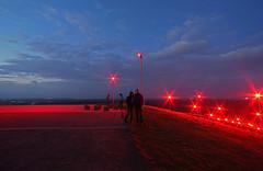 Halde Rheinpreussen (Ni1050) Tags: red sky rot night clouds germany deutschland nacht himmel wolken nrw dmmerung ww beleuchtung selfie halde bergbau 14mm scheinwerfer ninis samyang abraum rheinpreussen geleucht ninicrew