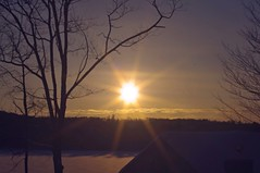 2015_0206Sunset0001 (maineman152 (Lou)) Tags: winter sunset sky lake ice nature water clouds landscape frozen pond maine february frozenover winterweather naturephotography landscapephotography naturephoto skycolor icecovered westpond landscapephoto