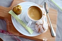 Amaretti (AlexandraJullian) Tags: france macro coffee caf lorraine nespresso amaretti macarons foodphotography foodblogging thermomix amandes foodstyling borderfx canon5dmarkiii canon100mmf28l