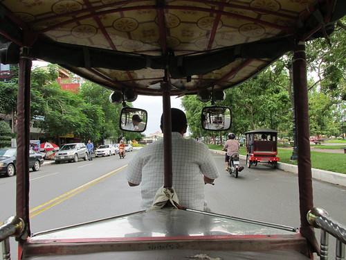Sur le tuktuk, Cambodge