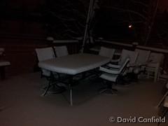 January 16, 2015 - An obligatory picture of snow covered patio furniture. (David Canfield)