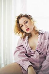 (Abigail Gorden) Tags: people selfportrait me window girl self myself blueeyes indoor freckles redhair selfportraiture selfie selfexpression windowlit