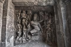Elephanta Island Vishnu battle sculpture (David Clay Photography) Tags: sculpture india island vishnu mumbai elephanta