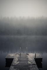 Lake (Laser Kola) Tags: lake misty fog suomi finland outside countryside outdoor foggy mysterious toned 2014 jrvi laituri fujifilmx100s laserkola
