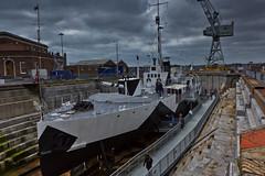 HMS M33 (agg_st) Tags: naval base dockyard