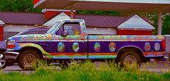 Artistic Ride (creepingvinesimages) Tags: truck outdoors virginia nikon artistic painted pickup topaz autofocus greenecounty htt d7000 pse14