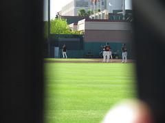 Through the Cracks at Scottsdale Stadium -- Scottsdale, AZ, March 08, 2016 (baseballoogie) Tags: arizona baseball stadium az giants scottsdale ballpark springtraining sanfranciscogiants cactusleague baseballpark scottsdalestadium 030816 canonpowershotsx30is baseball16