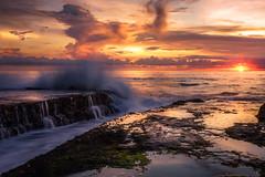 Spot the Crabs (Arek Adeoye) Tags: longexposure sunset sea bali sun seascape indonesia seaside asia sony wave seaview a7ii sonya7ii