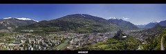 Overlooking Sion (Iceman_Mark) Tags: panorama alps castle switzerland spring may chteau sion valais basilique
