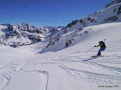 Day 3: a long descent of the Glacier du Mont Durand. (Erik.G.) Tags: zermatt chamonix skitouring skitour hauteroute valsorey plateauducouloir