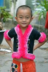 boy in his colorful hill tribe shirt (the foreign photographer - ) Tags: boy shirt portraits thailand nikon colorful bangkok young lard bang bua hilltribe khlong bangkhen d3200 phrao may282016nikon