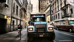 Hauling Rubble (MROEDEL) Tags: new york city nyc people buildings manhattan gotham humans roedel madridminer
