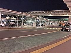 Narita Airport Scene (sjrankin) Tags: road cars japan airport edited taxis chiba hdr narita policeofficers naritaairport 11may2016