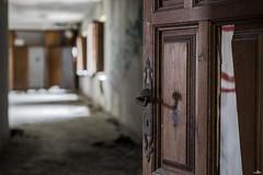 Al otro lado (NessSlipknot) Tags: door wood espaa abandoned broken spain puerta madera europa europe bokeh sony monastery pomo doorknob convento convent roto abandonado comunidaddemadrid slta77 sal1650 abandonedspain