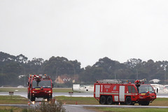 Panthers responding (adelaidefire) Tags: rescue fire airport aircraft air south australian australia ambulance adelaide service sa asa fighting panther metropolitan services mfs saas rosenbauer arff samfs ypad sasgar