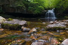 Go with the flow (Lee~Harris) Tags: uk trees motion nature water beautiful rock forest waterfall moss rocks pretty waterfalls flowing naturelovers flowingwater