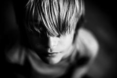 . (__cpk__) Tags: family b light portrait childhood hair 50mm monocromo nikon closed shadows child natural w persone nostalgia blond romantic lonely bianco nero sfondo ritatto d3s