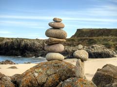 stacked rocks , Arch Beach, Alderney (neilalderney123) Tags: beach landscape sand rocks olympus zen alderney omd 2016neilhoward