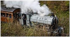 Tanfield railway (Hugh Stanton) Tags: train engine railway steam passengers driver
