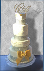 wedding-cake-or-et-diamants (Sani WeddingCakeDesign) Tags: or mariage paysdelaloire diamants gâteaudemariage weddingcakeangers