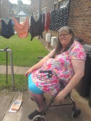 Getting a bit of sun. (yvonnematthews258) Tags: gay tv outdoor cd fat tgirl sissy cuddly transvestite crossdresser tgurl