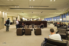 Lounge space (A. Wee) Tags: toronto canada airport lounge mapleleaf yyz aircanada