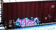 tars (timetomakethepasta) Tags: tars aak freight train graffiti aok boxcar