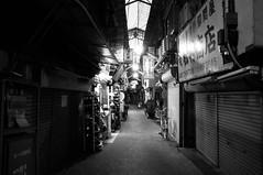 (23fumi) Tags: street bw monochrome alley sony sigma  osaka tsuruhashi  19mm    nex6 sigma19mmf28dn