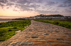 The causeway (Tractorboy1981) Tags: uk light sunset england southwest stone clouds landscape cornwall dusk wideangle marazion kernow d7100