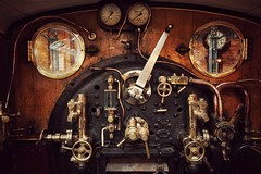 Cab Detail (mike.read44) Tags: york museum cab engine steam controls copper locomotive brass spinner firebox regulator 673