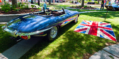 Jaguar V12 E type (hz536n/George Thomas) Tags: summer copyright canon michigan canon5d nik jaguar flint carshow xke 42l 2016 ef1740mmf4lusm cs5 sloanmuseum sloanmuseumautofair