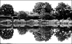 B&W reflections, Lapworth (alanhitchcock49) Tags: black and white bw mono canal lapworth junction warwickshire 20 june 2016