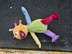 MIA (milfodd) Tags: road june toy discarded dropped 2016