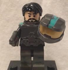 My face on a Spartan minifig (Mike-1911) Tags: lego halo2 spartan m1911 brickarms brickforge