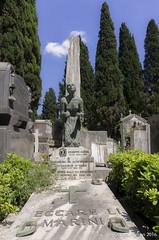 Blue Sky Day, Verano, Rome. 22nd May 2016. (craigdouglassimpson) Tags: italy sculpture cemeteries rome roma italia graveyards statues monuments memorials graveart cimiterodelverano campoverano